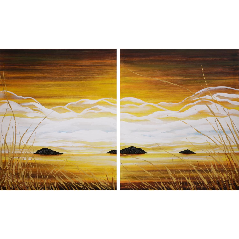 Quadro moderno dittico paesaggio quadri arte e cornici for Cornici quadri