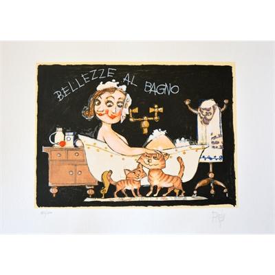 Bellezze al bagno grafica d 39 autore arte e cornici - Bagno d autore ...