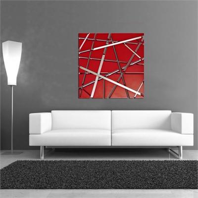 Si 095 laser art style arte e cornici gallery for Quadri astratti rossi