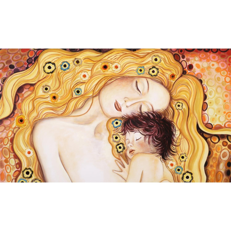 maternità di Klimt 100x68 | Quadri | Arte e Cornici Gallery | cornici su  misura | quadri moderni e classici | grafica d'auore | stampe su carta e  tela | specchiere